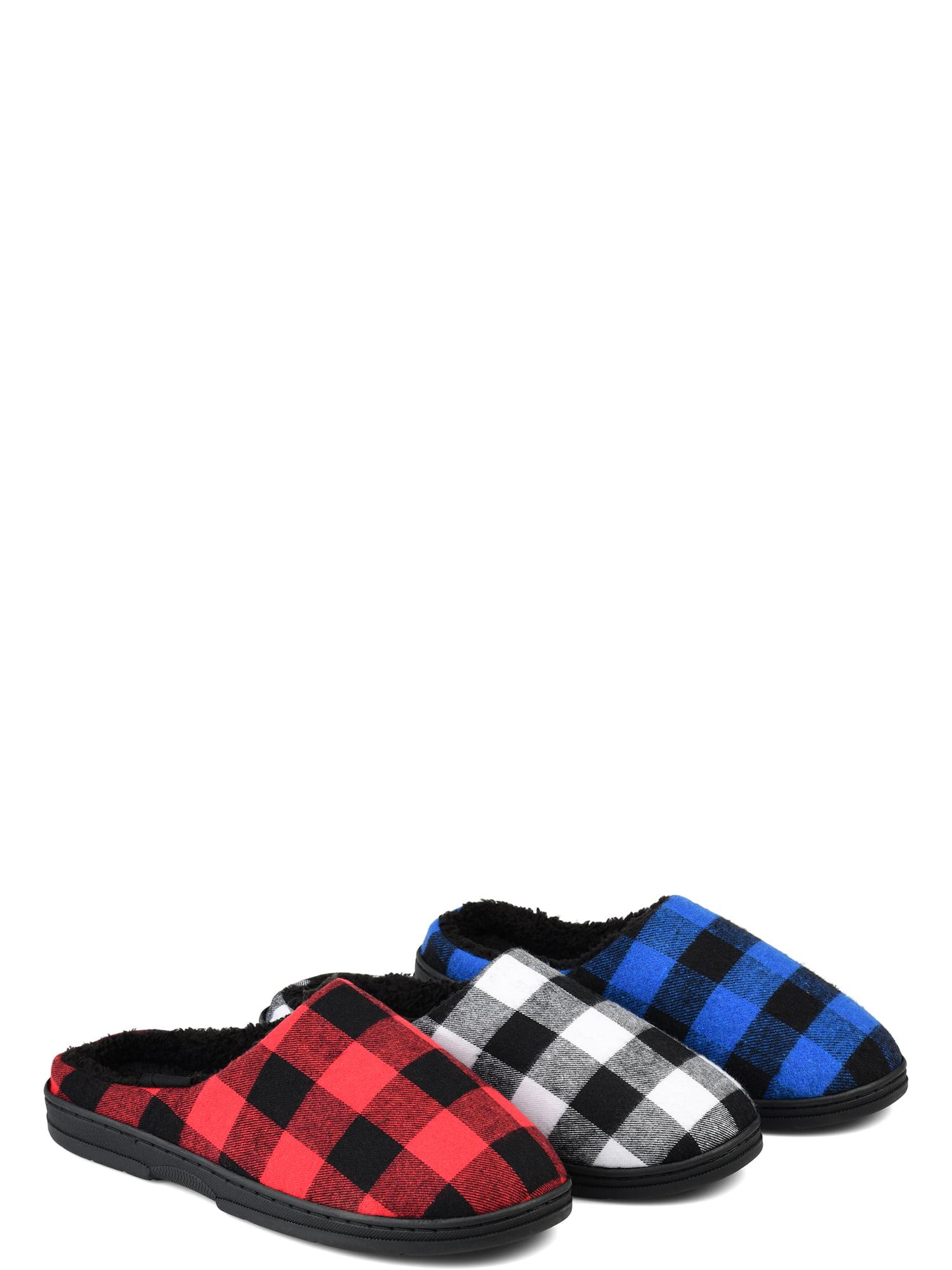 mens fur mule slippers