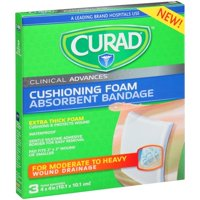 Curad Cushioning Foam Absorbent Bandage - 3 CT