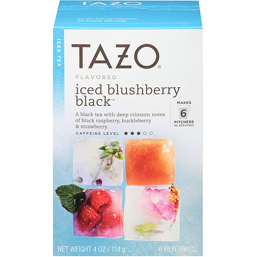 Tazo Iced Blushberry Black Tea Filterbags, 6 ct, 4 oz