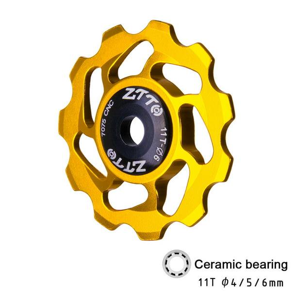 11T MTB Road Bicycle Rear Derailleur Jockey Wheel Ceramic Bearing Pulley