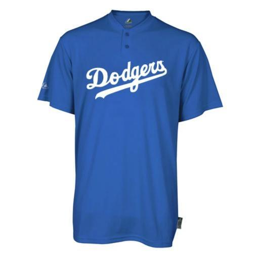 LA Dodgers Replica Baseball T-Shirt 100% Cool Mesh Fabric - Adult