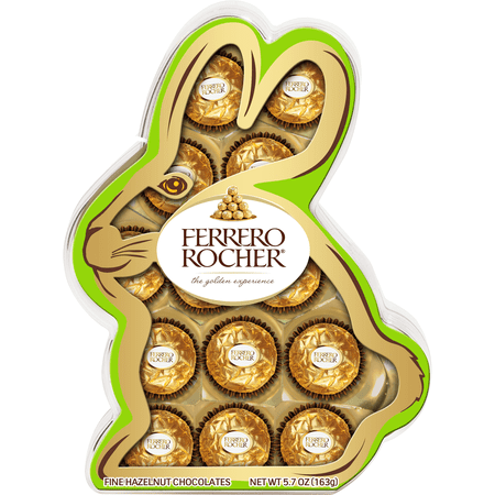 Ferrero Rocher Fine Hazelnut Milk Chocolate Easter Bunny Gift Box, 13 Count