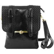 Cathrine Lillywhite GC1563BK Black Weaved Messenger Bag - 8 x 10 inch