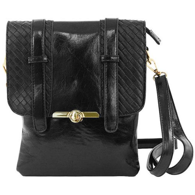 Cathrine Lillywhite GC1563BK Black Weaved Messenger Bag - 8 x 10 inch