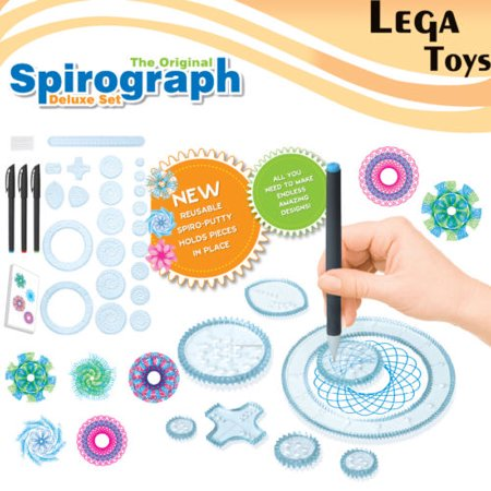27pcs Spirograph Design Set Tin Draw Drawing Kids Art Craft Create Education Toy](Spirograph Game)