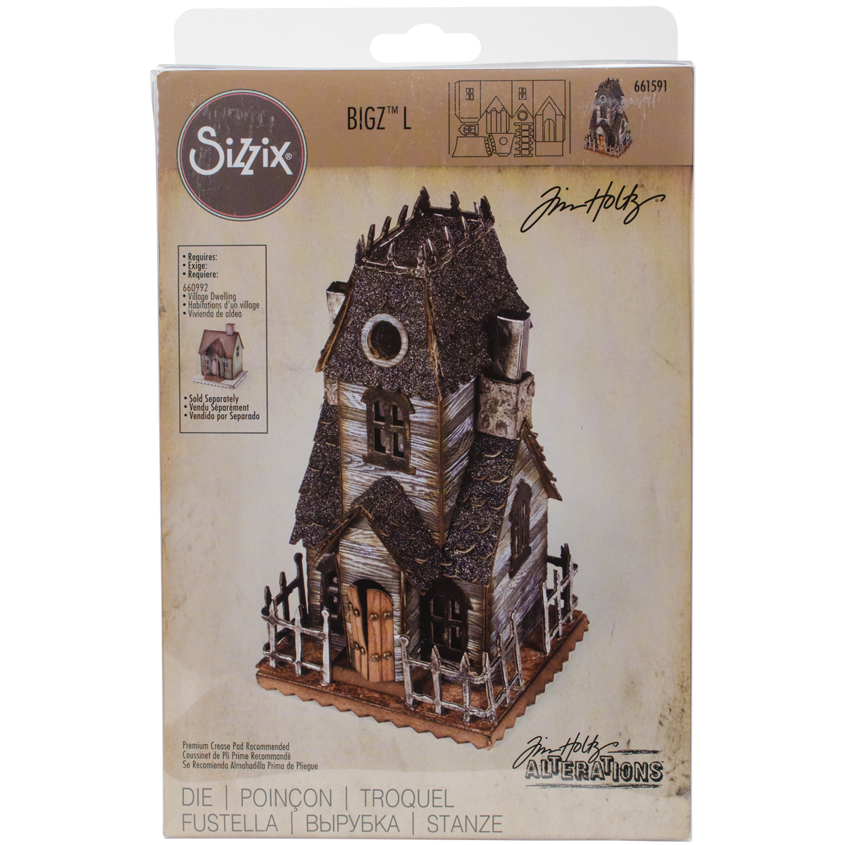 Sizzix Bigz Large Die By Tim Holtz Village Manor