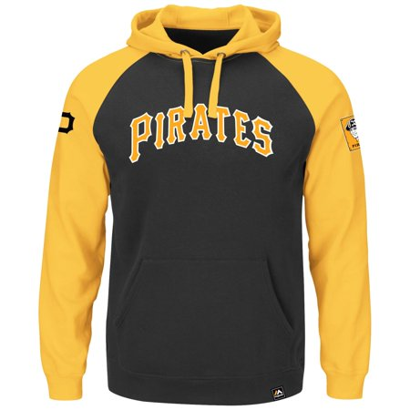 "Pittsburgh Pirates Majestic MLB ""Sports Night"" Cooperstown Hooded Sweatshirt by"