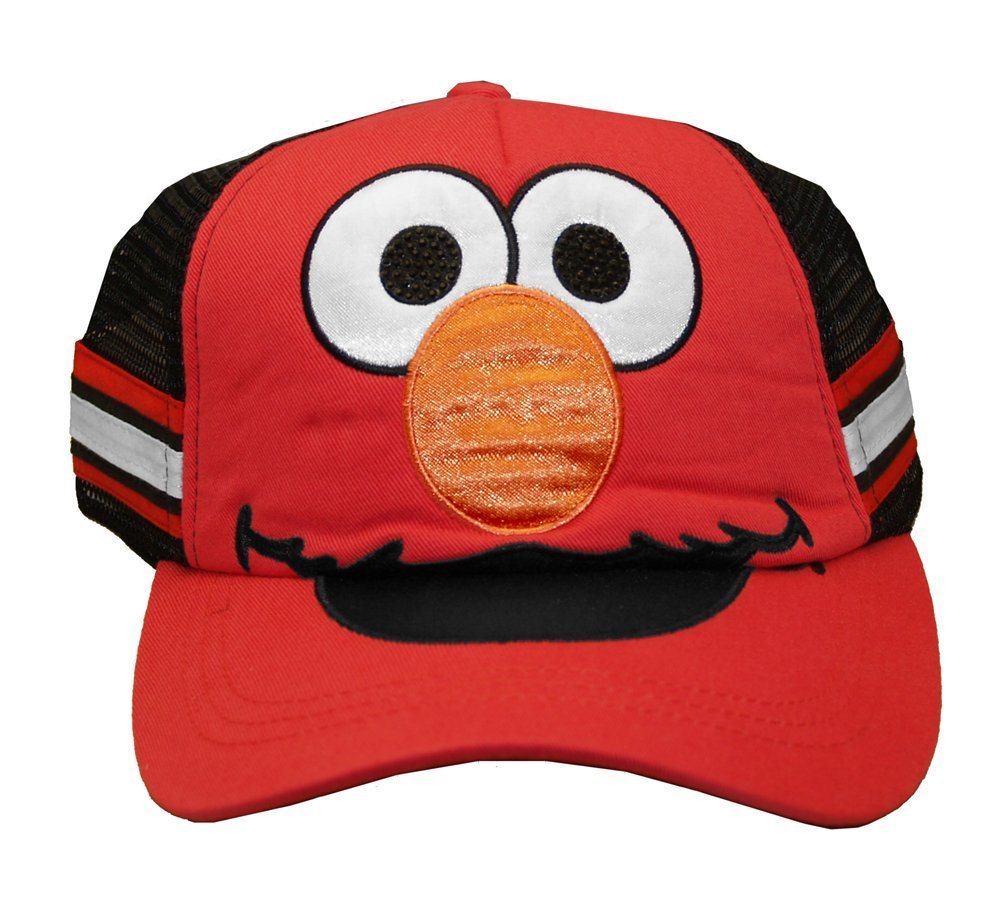 Baseball Cap - Sesame Street - New Elmo Hat Kids/Youth Red tc136378ses