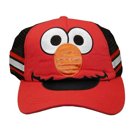 Baseball Cap - Sesame Street - New Elmo Hat Kids/Youth Red tc136378ses