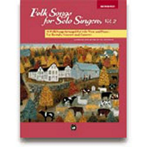 Alfred Folk Songs for Solo Singers Vol. 2 Medium High Voice  (Book and CD)