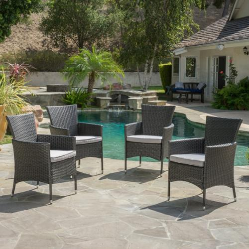 Marin Wicker Dining Chairs (Set Of 4)
