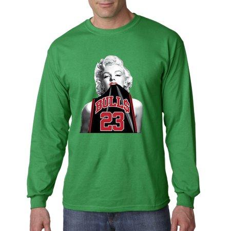new products 97e4c 8bedb Trendy USA 420 - Unisex Long-Sleeve T-Shirt Marilyn Monroe Bulls 23 Michael  Jordan Jersey Small Kelly Green