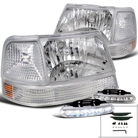 Spec D Tuning 1998 2000 Ford Ranger Clear Head Lights Corner Parking Lamps White Led Driving Fog Left Right 1999