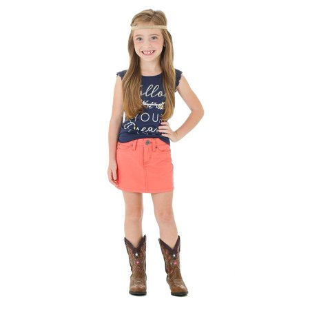 Wrangler Apparel Girls  Coral Skirt - Girls Apparel