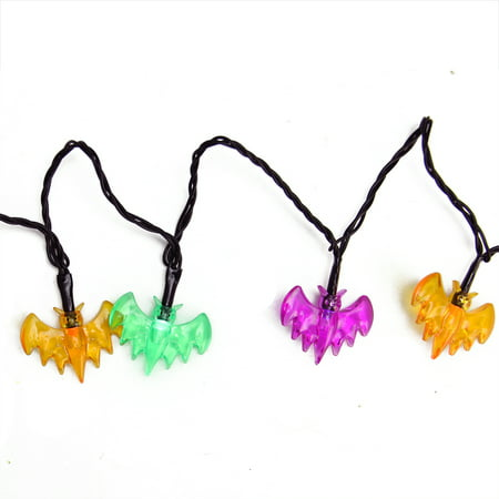 Set of 10 Multi-Color Bat LED Novelty Halloween Lights - Black Wire](Halloween 10 Disc Set Review)
