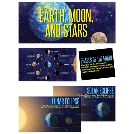 Earth, Moon & Stars, Mini Bulletin Board, Grade 1 & Up (6989), 19 pieces By Creative Teaching Press