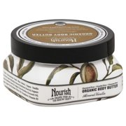 Nourish Organic Body Butter Almond Vanilla Sensible Organics 3.6 oz Cream