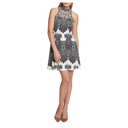 Embroidered Floral Lace Dress (Ben Sherman Womens Dress)