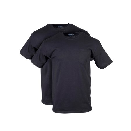 Gildan Men's DryBlend Workwear T-Shirts with Pocket, 2-Pack (Famous Mans T-shirts)