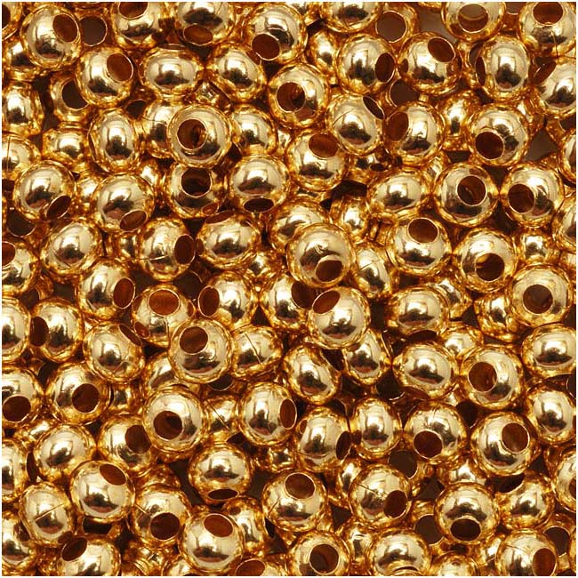Genuine Metal Seed Beads 8/0 24KT Gold Plated 40 Grams