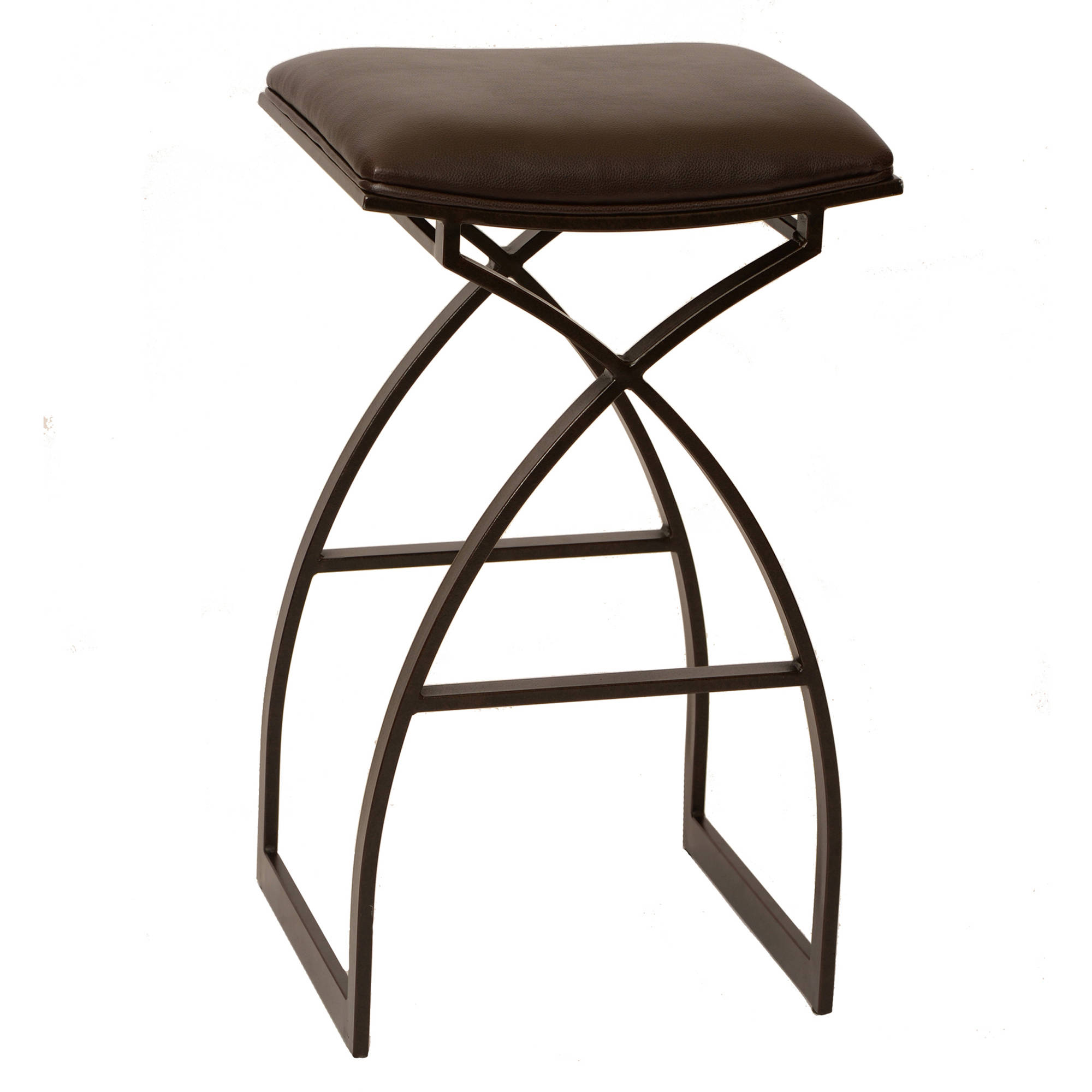 "ARMEN LIVING Harper 30"" Modern Barstool, Coffee and Auburn Bay Metal"