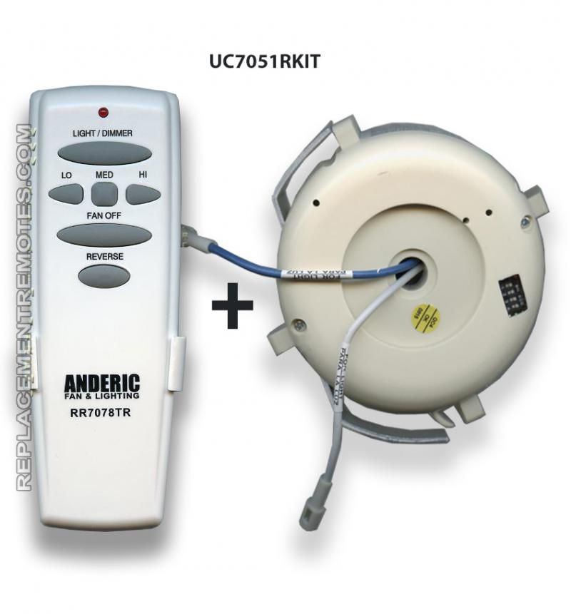 Anderic Rr7078tr Uc7051r Replacement Ceiling Fan Kit For