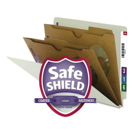 - Smead Pressboard End Tab Classification Folder, Pockets, Letter, Six-Section, 10/Box -SMD26710