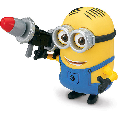 Despicable Me 2 Minion Dave Deluxe Action Figure with Rocket Launcher