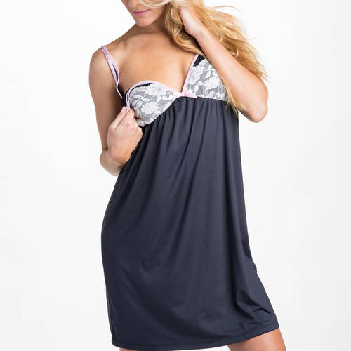 Love Xoxo by You! Lingerie Take The Plunge Nursing Maternity Sleep Chemise