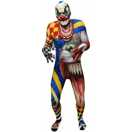 Monster Collection Adult Creepy Clown Morphsuit Men's Adult Halloween Costume](Creepy Halloween Makeup Ideas For Women)