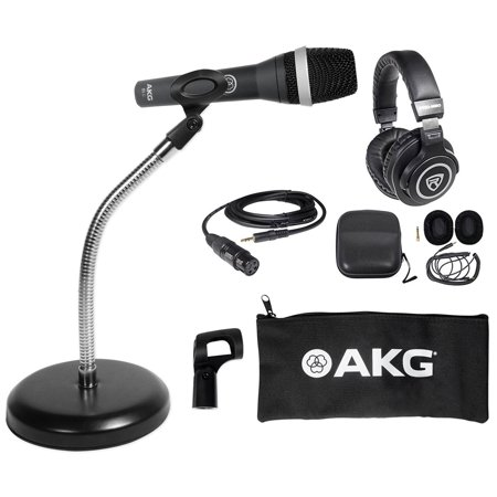 akg d5 c pc podcasting podcast microphone weighted base gooseneck headphones. Black Bedroom Furniture Sets. Home Design Ideas