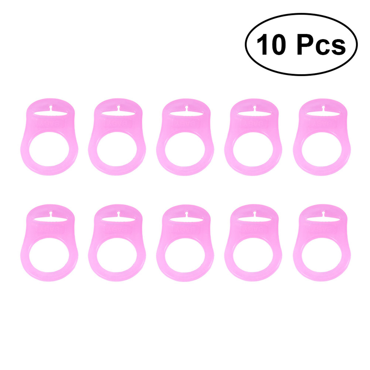 Silicone Button Ring Practical High Quality Dummy Pacifier Holder Suitable for MAM Rings Baby Dummy Chains,10PCS