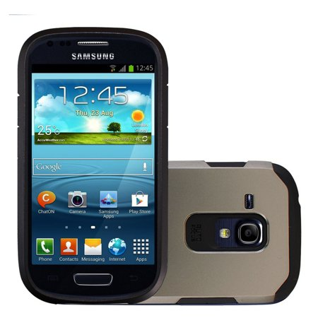 Samsung Galaxy S3 Mini / i8190 TPU Slim Rugged Hard Case Cover Slate (Compare Samsung Galaxy S3 And S3 Mini)