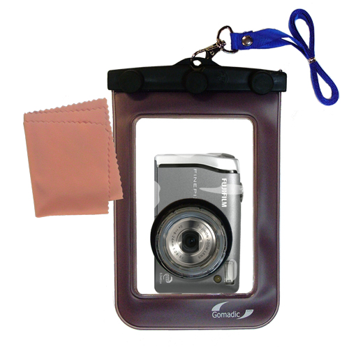 Gomadic Waterproof Camera Protective Bag Suitable For The Fujifilm Fine Pix F455  -  Unique Floating Design Keeps Camera Clean And Dry
