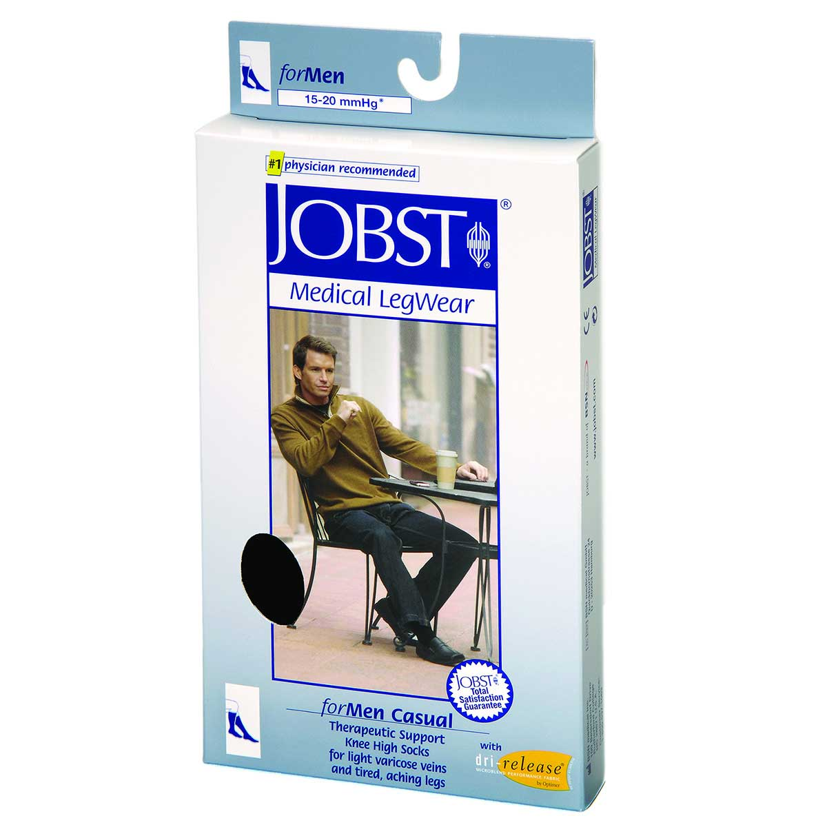 Jobst forMen Casual 30-40 mmHg Small Black Knee High