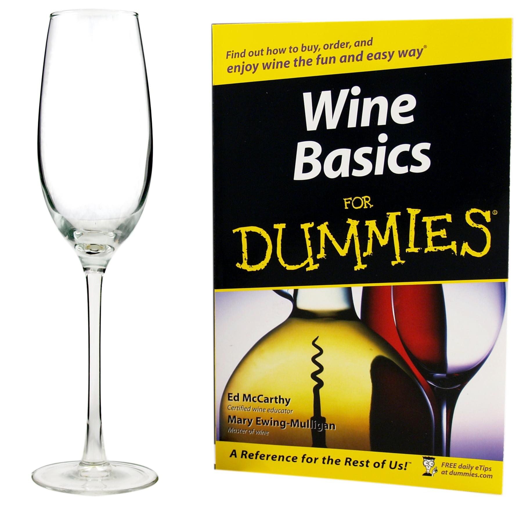 Luminarc Wine For Dummies Sparkling Wine Glass Set with Book 5 Piece