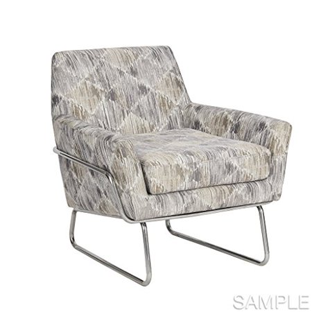 Accent Chair Color Grey Multi Chrome Size See Below