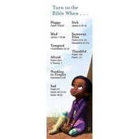 Deep Blue Turn to the Bible When Bookmark (Pkg of 25) (Other)