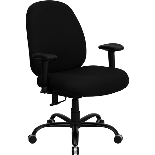 Hercules Series Big and Tall Office Task Chair with Arms, Black (holds up to 500 lbs)
