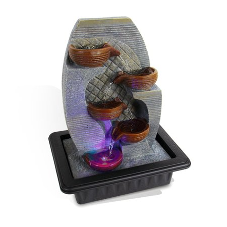 Cross Desk Fountain - Serene Life Water Fountain - Relaxing Tabletop Water Feature Decoration