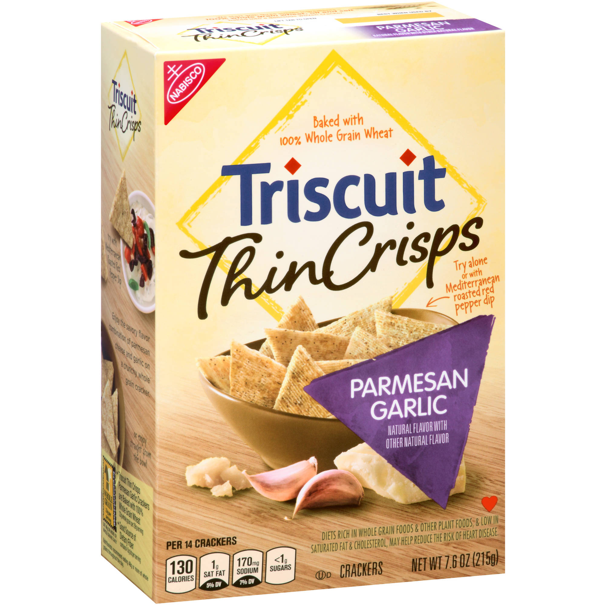 Nabisco Triscuit Thin Crisps Parmesan Garlic Crackers, 7.6 oz