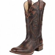 """Stetson Western Boots Mens 13"""" Overlay Brown 12-020-1836-0011 BR"""