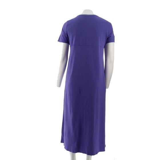 540fe5c5d25 Denim  amp  Co Short Slv V-Neck Empire Waist Knit Dress A199937 -  Walmart.com