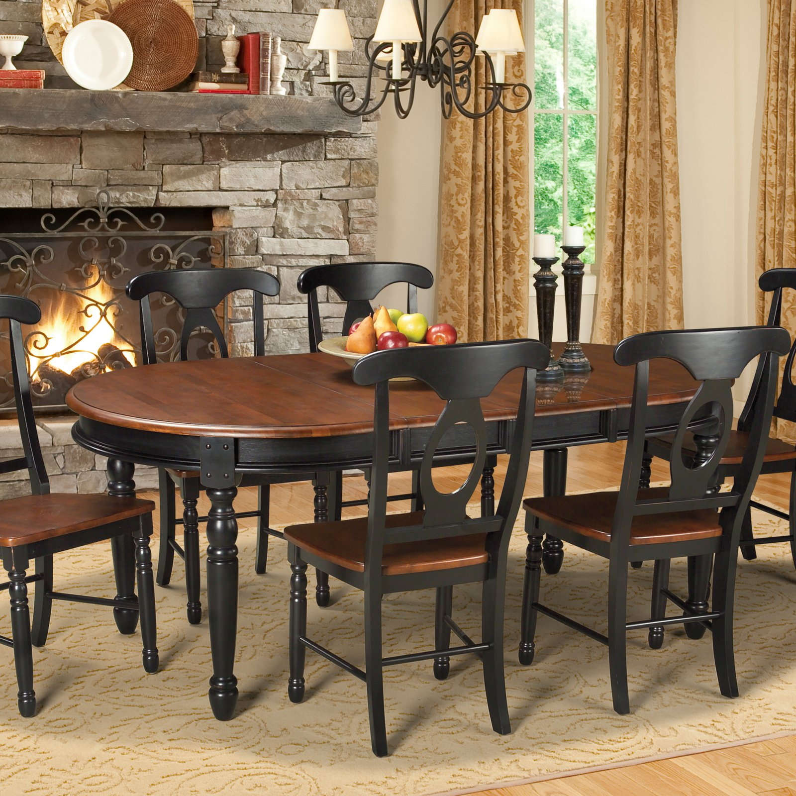 AAmerica British Isles Oval Dining Table Walmartcom