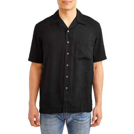 George Men's Short Sleeve Jacquard Button-down