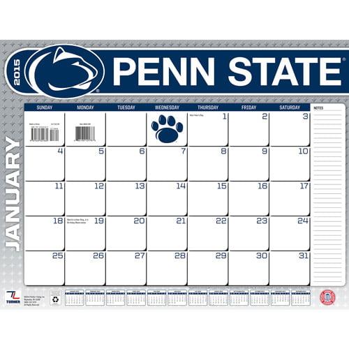Penn State Nittany Lions 2015 22 X 17 Desk Calendar Walmart Com