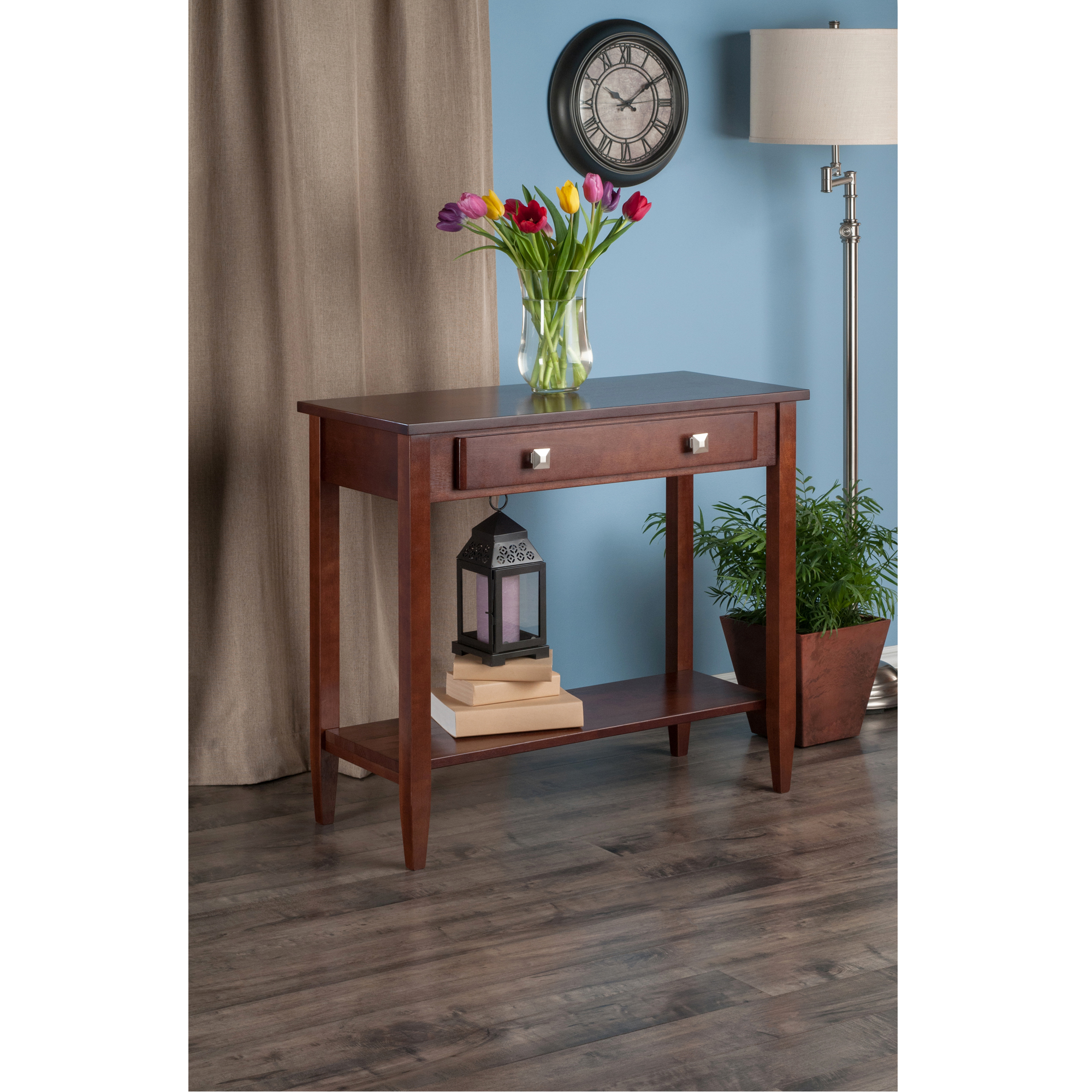 Winsome Wood Richmond Console Table with Drawer, Walnut Finish
