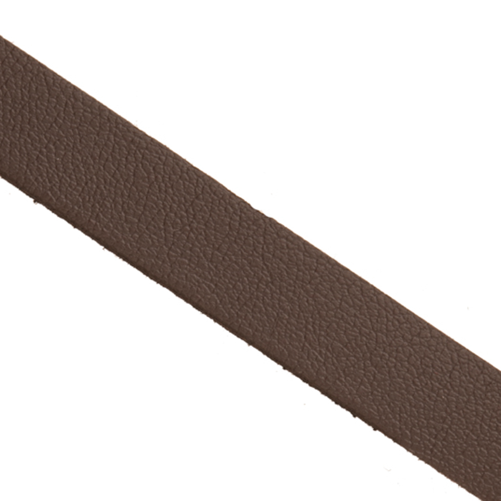 Genuine Leather Coated Faux Suede Lace Cord Dark Brown 10mm 2yard/pack (3-pack Value Bundle), SAVE $2