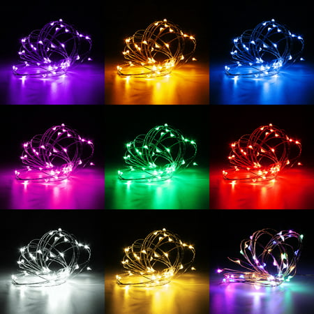 5m 50led Copper Wire Fairy String Light Curtain Lamp Outdoor Christmas Party Xmas Wedding Home