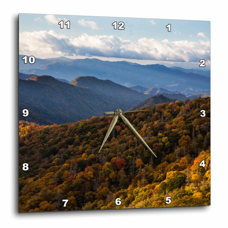 3dRose USA, Tennessee, Fall foliage in the Smoky Mountains National Park., Wall Clock, 10 by 10-inch